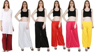 Marami Regular Fit Women White, Red, Black, Yellow, Maroon, Pink Trousers