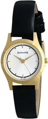 Sonata 87025YL02 Essentials Analog Watch For Women