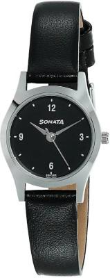 Sonata 87025SL02 Essentials Analog Watch For Women