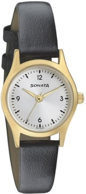 Sonata 87025YL04 Essentials Analog Watch For Women