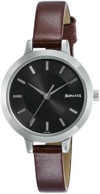 Sonata 8141SL01 Steel Daisies Analog Watch For Women