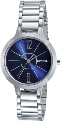 Sonata 8141SM03 Steel Daisies Analog Watch For Women