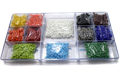 Jaunty Beadsnfashion Jewellery Making Seed Beads Opaque & Metallic DIY Kit (12 Colors) Flipkart