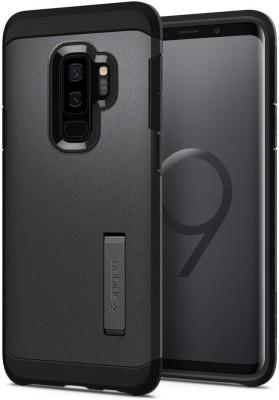 online store a1211 4f766 Spigen Back Cover for Samsung Galaxy S9 Plus / Galaxy S9+(Graphite Gray,  Plastic)