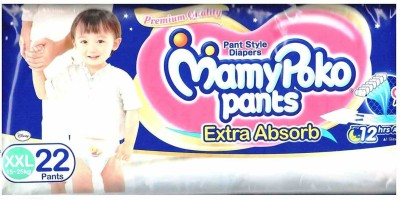 Mamy Poko Pant Extra Absorb Baby Diapers, XXL 22 Pieces