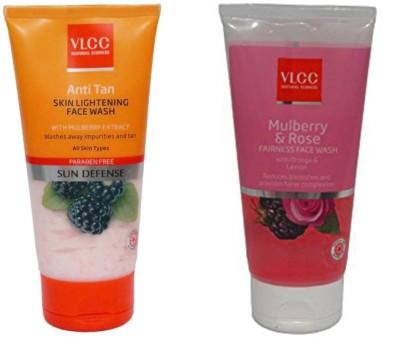 VLCC Original Anti Tan Skin Lightening & Mulberry&Rose Face Wash