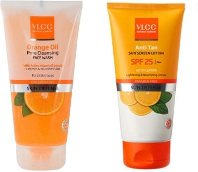 VLCC Original Orange Oil Pore Cleansing Face Wash & Anti Tan Sun...