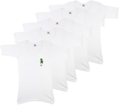 Rupa Jon Kids Vest For Boys Cotton(White, Pack of 5)