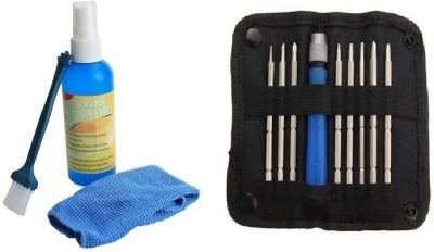 Etake Laptop Cleaning Kit With Screwdriver Tool Kit Combo Set(Multicolor)