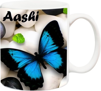 Stylotrendz Special Gift for Girl,Wife,GF,Sister,Mom- AASHI Beautiful Butterfly HD theme Printed Coffee Ceramic Mug(325 ml)