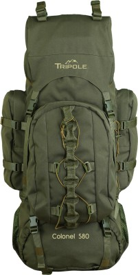 Tripole Colonel (With Detachable Day Pack) Rucksack  - 80 L(Green)