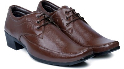 Bxxy Brown Height Increasing formal shoes Lace Up For Men(Brown)  available at flipkart for Rs.799