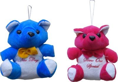 atorakushon Pack of 2 Cute Heart Love Teddy Bear Soft Stuffed Plush Toy Kid Children Infant love Valentine Birthday Gift   12 cm Multicolor atorakusho