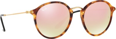 Ray-Ban Round Sunglasses(Multicolor) at flipkart