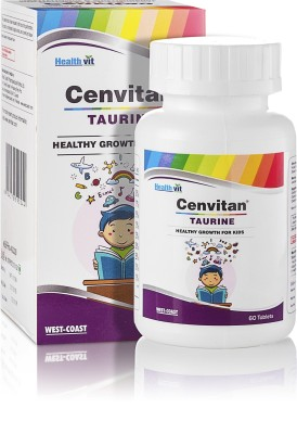 HealthVit Cenvitan Taurine (Healthy Growth For Kids) 60 Tablets. Unflavored Tablets(60)