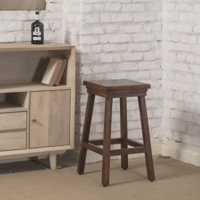 The Jaipur Living Nathula Solid Wood Bar Stool(Finish Color - Honey Brown)