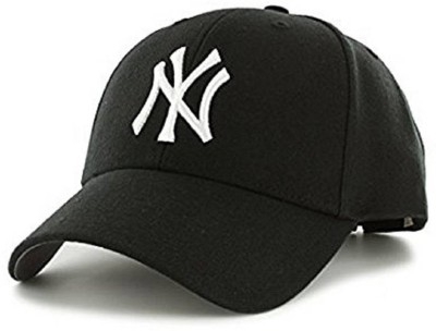 6b33eb8f22be0 Friendskart Solid Ny Baseball Cap For Boys Men s Girls (Black   White) Cap  Cap