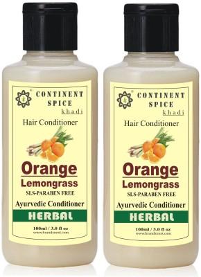 Continent Spice Khadi Orange Lemongrass Hair Conditioner (Pack of 2) CS682005(100 ml)