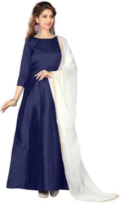 INFOTECH Women's Maxi Blue Dress