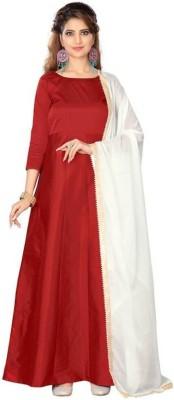 INFOTECH Women's Maxi Red Dress