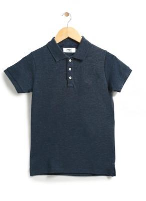 Chimprala Boys Solid Polyester Cotton Blend T Shirt(Blue aa8a9af9152f9
