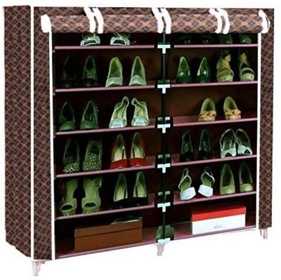 Valtior CABINET99.4 Carbon Steel Shoe Rack(Black, 12 Shelves)