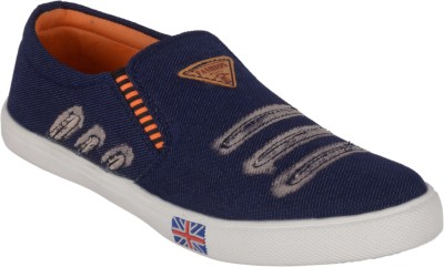 ANNI INTERNATIONAL Smart Look Casual Shoes(Navy) Slip On Sneakers For Men(Navy)