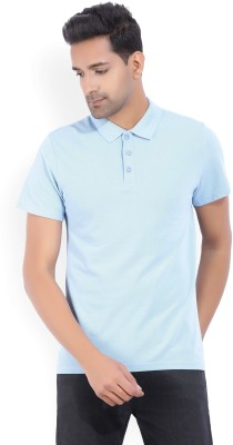 French Connection Printed Men Round Neck Light Blue T-Shirt
