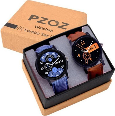 PZOZ Set Of Two Combo Fashionable Analog Watch  - For Boys