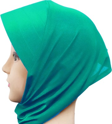 Cwen Collection Solid Hijab TURQUOISE CANVAS NINJA, Tube Cap Ladies Hat Under Scarf, Stole Bonnet Head Hair Band Muslim Abaya Cap Cwen Collection Wome
