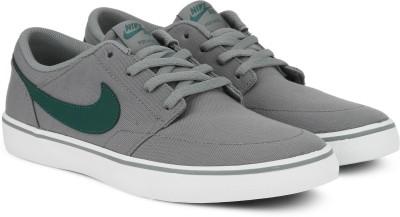 Nike SB PORTMORE II SOLAR CNVS Sneakers For Men(Grey, Green) 1