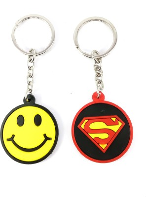 ShopTop Non- Metallic Superman and Smiley keychain Key Chain(Multicolor)  available at flipkart for Rs.139
