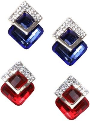 Jewels Galaxy Luxuria Earrings Emerald Alloy Stud Earring Jewels Galaxy Earrings