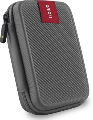 TIZUM Hard Drive Case 2.5 inch Double Padded(For 2.5-Inch Hard Drive, Grey)