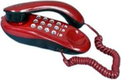 Ae Zone Landline Telephone Corded Phone Orientel KX-T333 For Office and Home Purpose Red Corded Landline Phone(Red)  available at flipkart for Rs.445