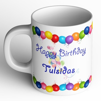 Abaronee Happy Birthday tulsidas b001 Ceramic Mug(350 ml)  available at flipkart for Rs.249