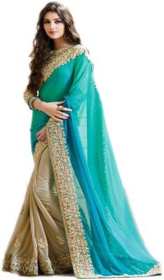 Avni n Anvi Embroidered, Self Design Fashion Heavy Georgette Saree(Light Blue)