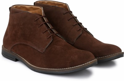 Hirel's Hirel's Brown Suede Chukka Boots Outdoors For Men(Brown)