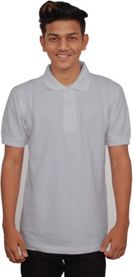 iTRENDII Solid Men's Polo Neck Grey T-Shirt
