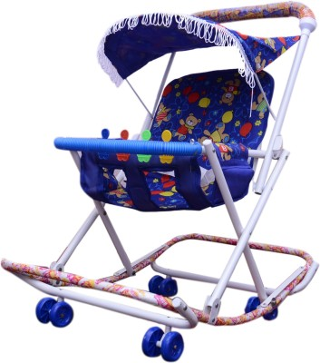 Abasr 2-in-1 Walker With Parent Rod(Multicolor)