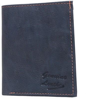 WEARUP Men Blue Artificial Leather Wallet 6 Card Slots