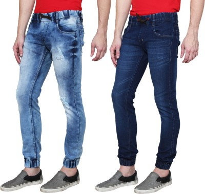 Ansh Fashion Wear Regular Men's Blue Jeans(Pack of 2) at flipkart