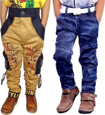 AD & AV Regular Boys Multicolor Jeans(Pack of 2)