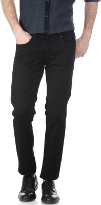 Basics Skinny Men Black Jeans at flipkart