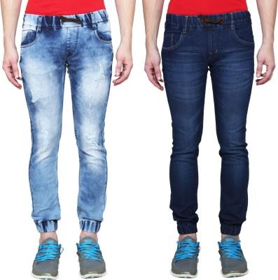 Ansh Fashion Wear Jogger Fit Men Blue Jeans(Pack of 2)