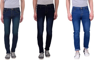 London Looks Regular Men's Multicolor Jeans(Pack of 3)