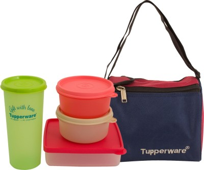 Tupperware Best Lunch Bag with 4 Containers Lunch Box 4 Containers Lunch Box(1200 ml)  available at flipkart for Rs.1100