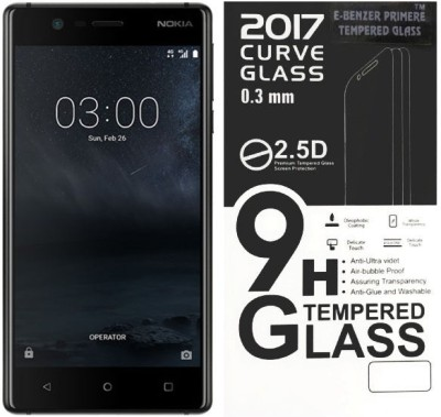E-benzer Tempered Glass Guard for Nokia 3 glass (5.00 inch)