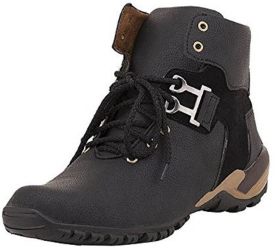 lejano CASUAL BOOT Boots For Men(Black)  available at flipkart for Rs.198