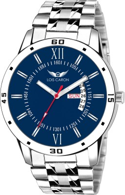 Lois Caron LCS-8016 BLUE DIAL DAY AND DATE FUNCTIONING Watch  - For Men